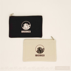 Small Logo Pouch Bag (Beige/Black)